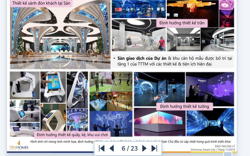 Những thiết kế vô cùng độc đáo tại Vincom Mega Mall Vinhome Smart City.