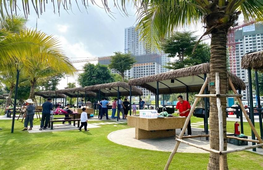 Tiện ích tại công viên trung tâm của Vinhomes Smart City.