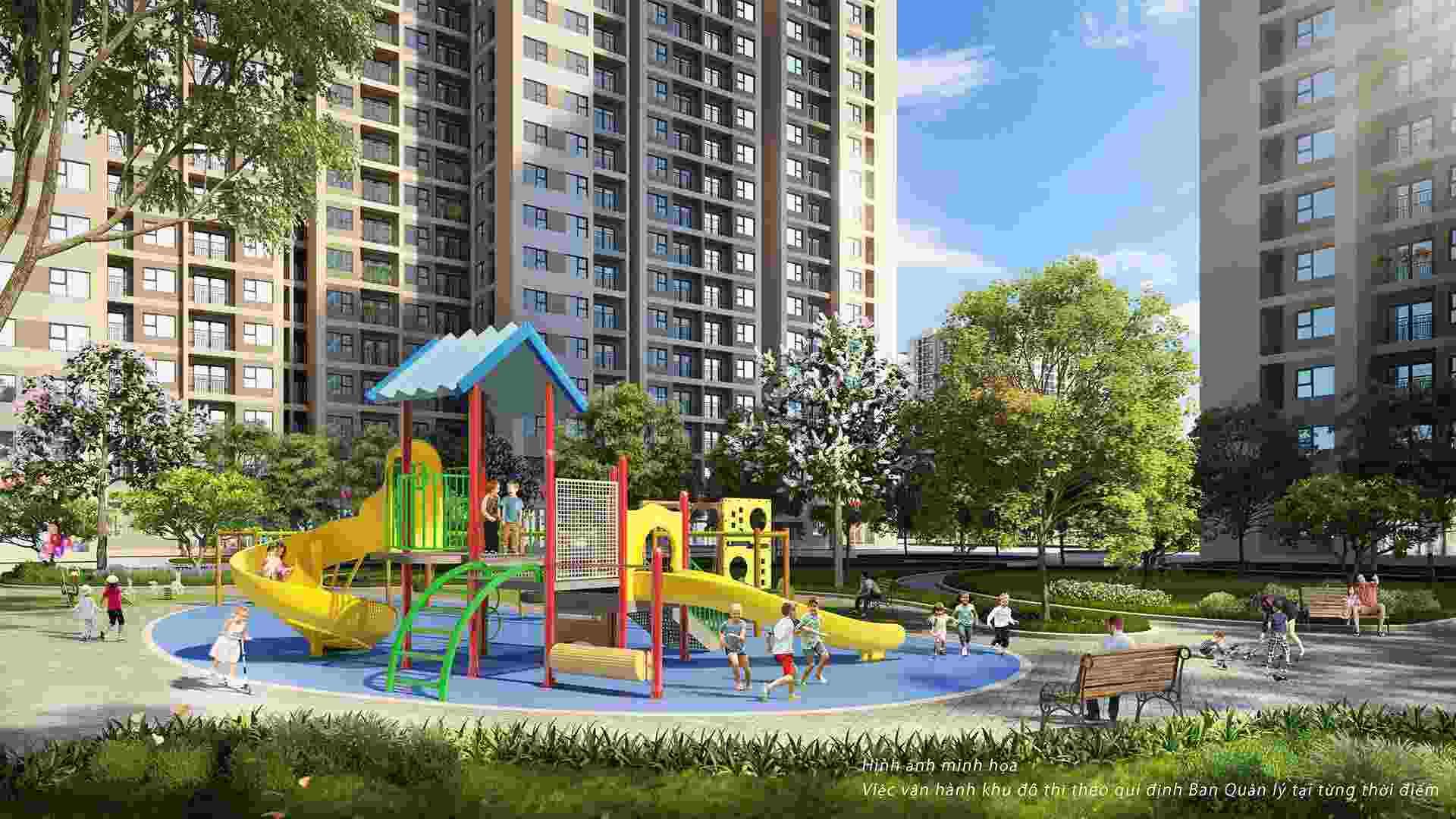 Sân vui chơi dành cho trẻ em tại Vin Bắc Giang
